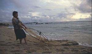 mother and sea